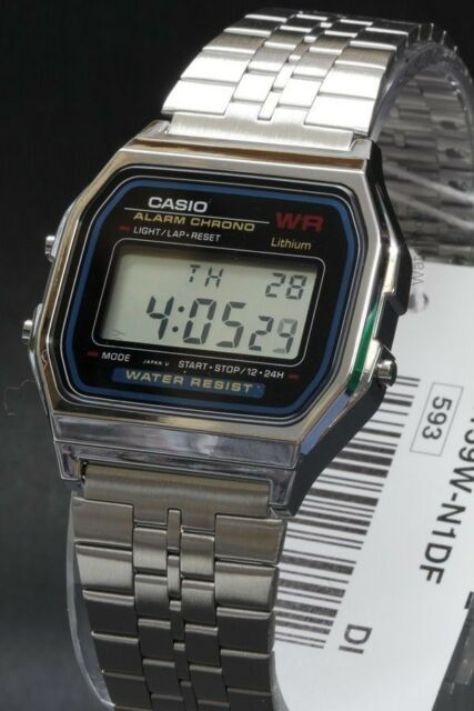 d04a03925f55 Casio A159w-n1 Mens Classic Stainless Steel Digital Watch Vintage ...