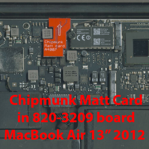 """EFI BIOS firmware Matt Card MacBook Air 13/"""" 2012 emc2559 820-3209"""