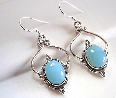 Chalcedony 925 Sterling Silver Dangle Drop Earrings Fashion Gift New
