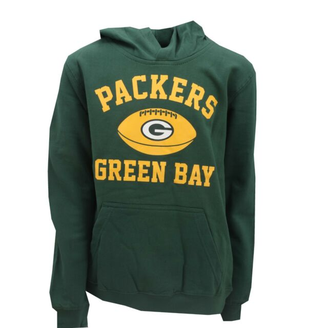 Green Bay Packers Official NFL Apparel Kids Youth Size Hooded Sweatshirt New 64a50b834