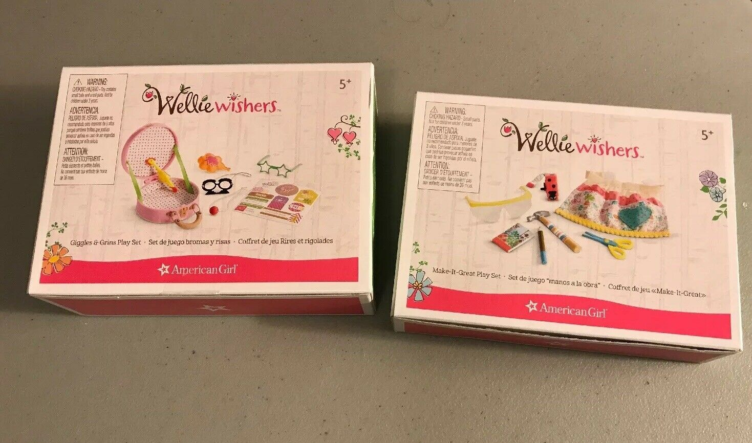 """AMERICAN GIRL WELLIE WISHERS /""""MAKE IT GREAT/"""" ACCESSORY SET NEW IN BOX"""