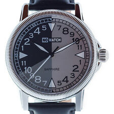 24 hour watch with segmented 24 hour dial. Swiss movement and Sapphire glass