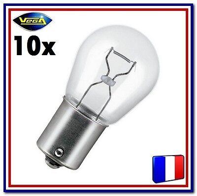"""Disciplinato 10 Ampoules Vega® """"maxi"""" P21w Ba15s 12498 Position Arrière Stop Recul Frein 12v"""