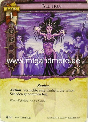 Warhammer Invasion 2x Blutruf  #034