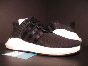 ADIDAS EQT SUPPORT 93 17 EQUIPMENT MILLED LEATHER CORE BLACK WHITE ... 85f256c676