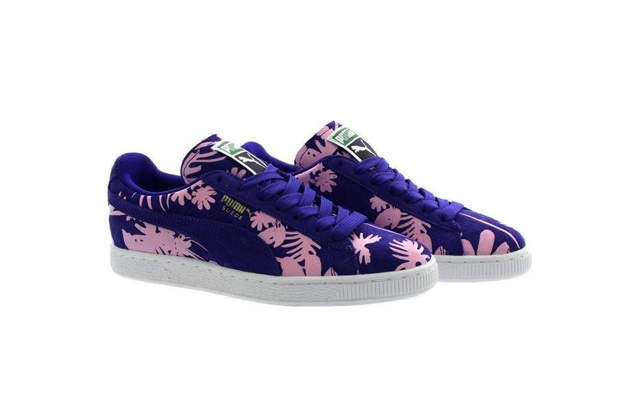 Puma purple Classico in pelle Scamosciata Tropicalia shoes Sportive Sneakers