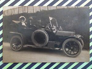 Carte-Photo-des-annees-1900-AUTOMOBILE-VOITURE-a-Identifier-MOTORCAR-Traction