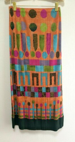 ISSEY MIYAKE PLEATS PLEASE Skirt Size4 multicolor