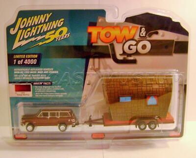 1981 /'81 JEEP WAGONEER V//A W// TINY HOUSE TOW /& GO 50 YEARS JOHNNY LIGHTNING 2019