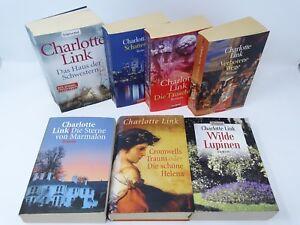 CHARLOTTE-LINK-Schattenspiel-Verbotene-Wege-Marmalon-Cromwells-Lupinen-7x-Buch