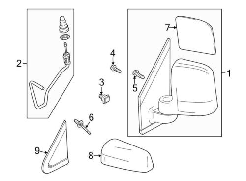 OEM Ford R Power Mirror Assembly BT1Z-17682-B Transit Connect 2011-13 Rear View