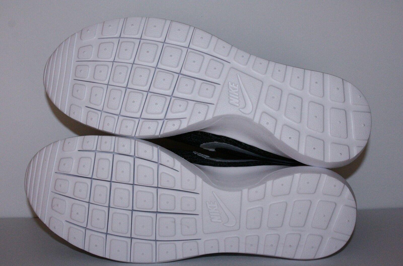 Auténtico Nike Roshe Run NM Flyknit Gris Oscuro Blanco Blanco Blanco y Negro 677243 010 Hombre c1be16