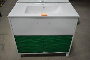 Super Vanity 48 Iris Emerald Green Bathroom Vanity Plywood Ceramic Sink Basin Ebay