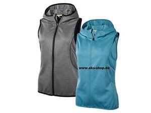 624133e8385286 Das Bild wird geladen Damen-Funktionsweste-Weste-Kapuze-Jogging-Training- Blau-Grau-