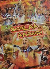 DEUTSCHE NATIONALMANNSCHAFT - A2 Poster (XL - 42 x 55 cm) - Fußball WM 2014 NEU