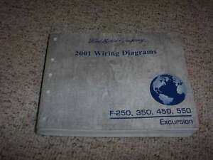 2001 Ford Excursion F250 Electrical Wiring Diagram Manual ...