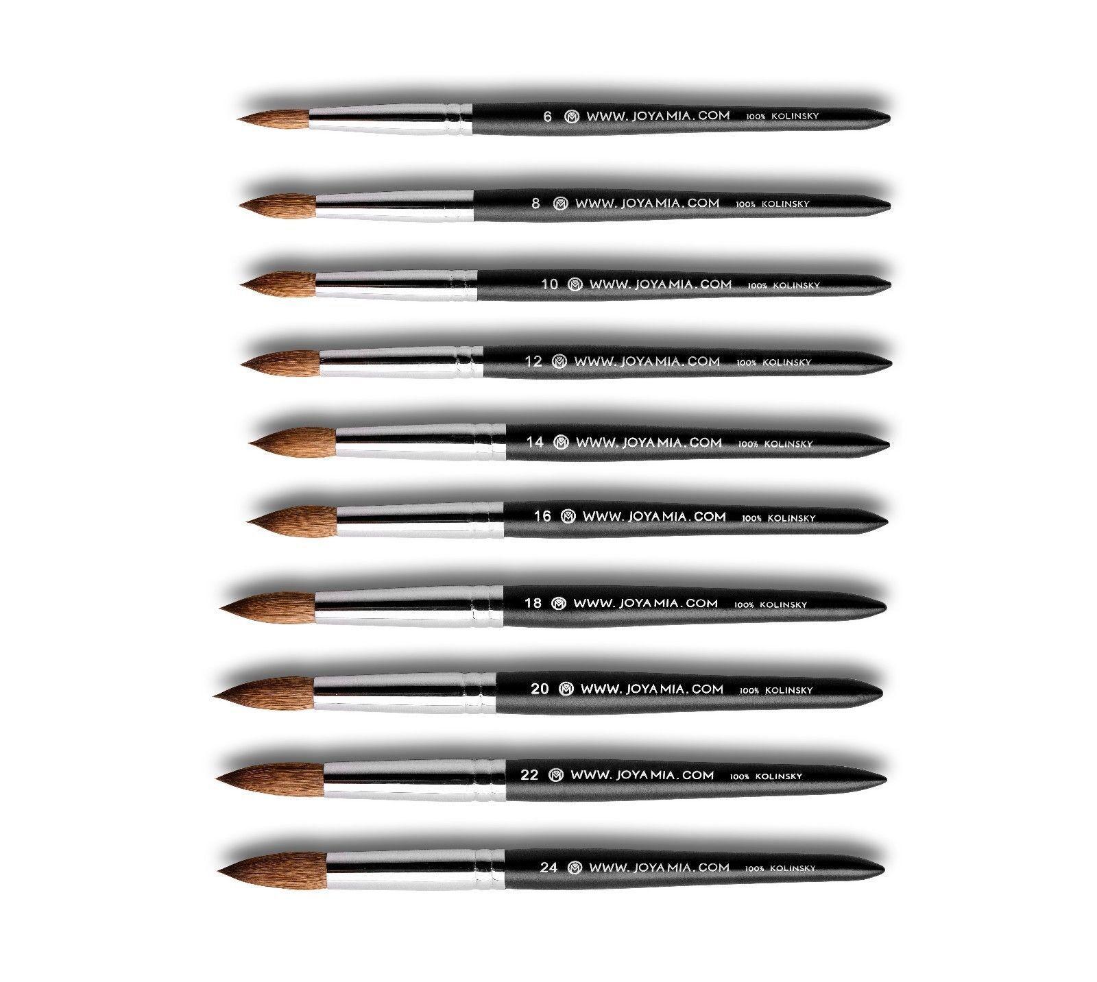 Joya Mia 100 Pure Kolinsky Acrylic Nail Brush Size 6 8 10 12 14 16 18 20 22 24