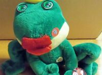 Novelty Smooching Frog With Light Up Eyes For Valentines With Tags