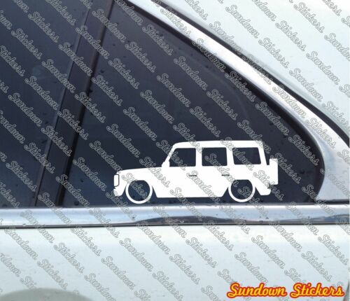2x Lowered car outline stickers for Mercedes G-Class G Wagen,Geländewagen w463