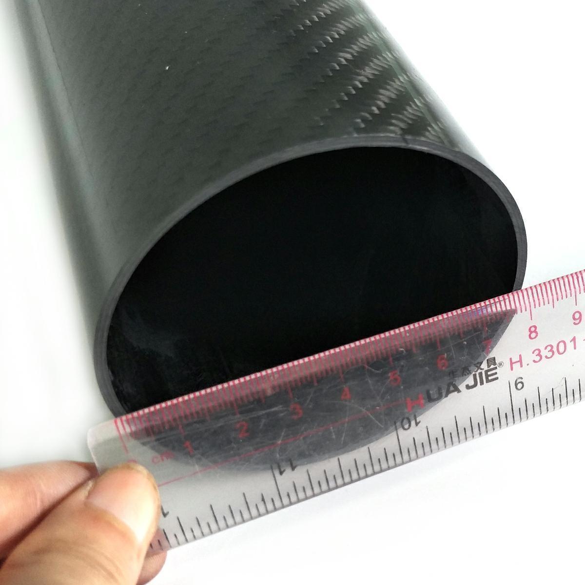 1 1 1 pc autobon fiber tube 3K tube ID 76mm OD 80mm500mm length a3b1f9
