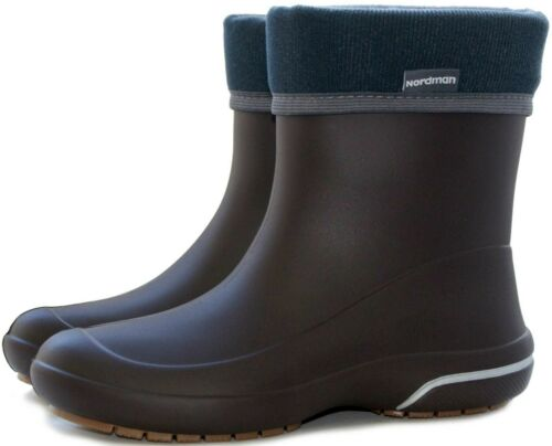 Rain Boots Short Ankle-High Wide Calf Youth boots Womens Insulated Garden Boots
