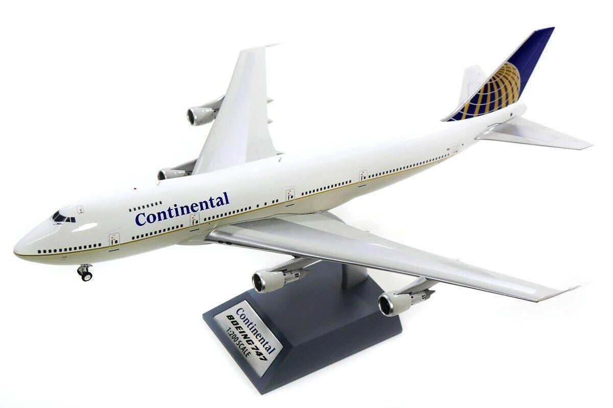 Inflight 200 IF742CO1218 1 200 Continental Airlines B747-200 N33021 mit Ständer