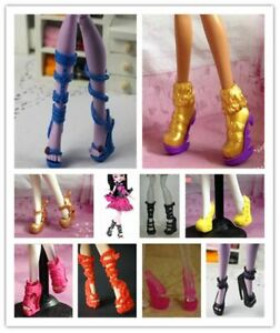 For-Monster-High-Dolls-20-Pairs-Fashion-Shoes-Beautiful-Mixed-Style-Heels-Boots