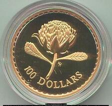 1995 Australia $100 Gold Uncirculated Coin - Floral Emblems