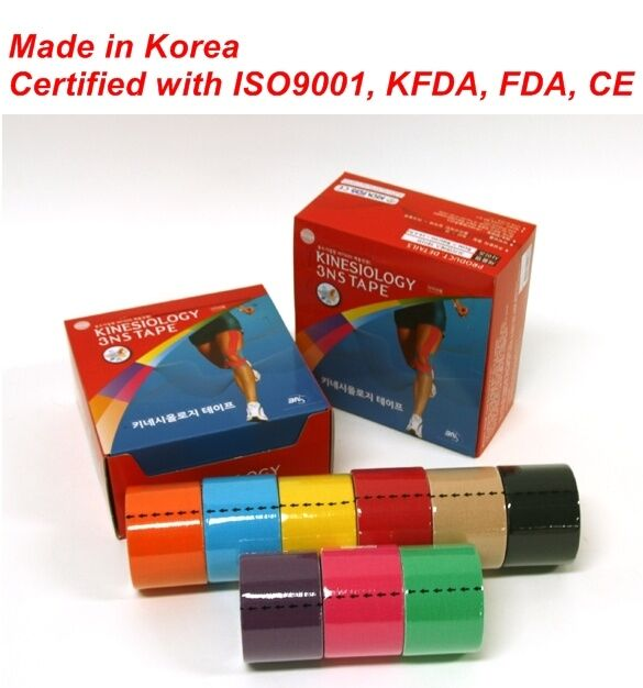 9 Rolls 3NS Premium Kinesiology Tape Sports Muscle Care Tex 9 Colors Free Gift