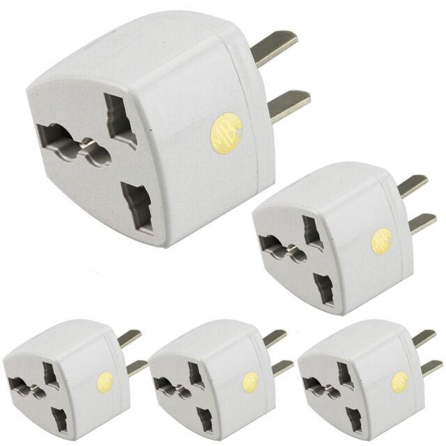 Universal EU UK AU to US USA AC Power Adapter Travel Plug Converter 2Flat Pin MC