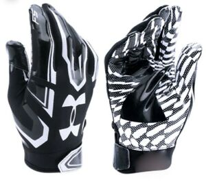 UNDER-ARMOUR-F5-Advanced-Skilled-Player-Black-White-Football-Gloves-Youth-S-M-L