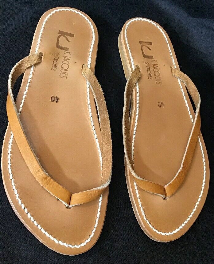 Jacques Sandle Brown Pelle NEW Size 40