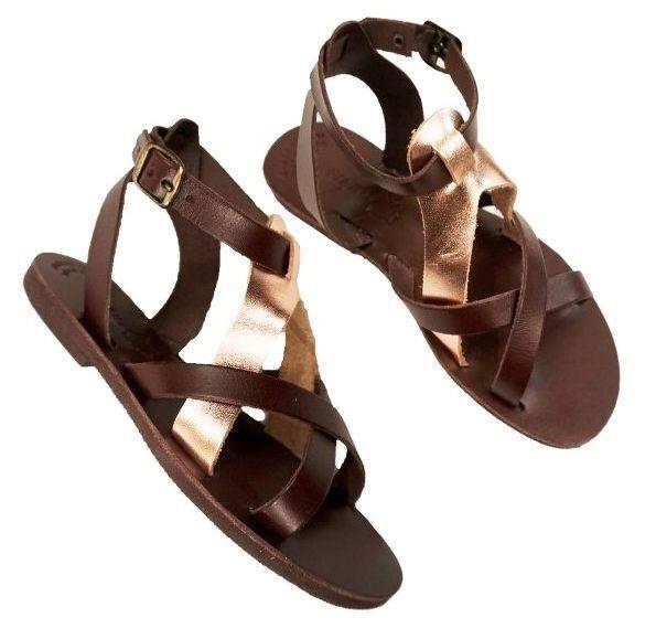 Estilo griego antiguo antiguo antiguo romano Mujer Sandalias De Cuero Genuino Hecho a Mano Zapato Gladiador  el precio más bajo