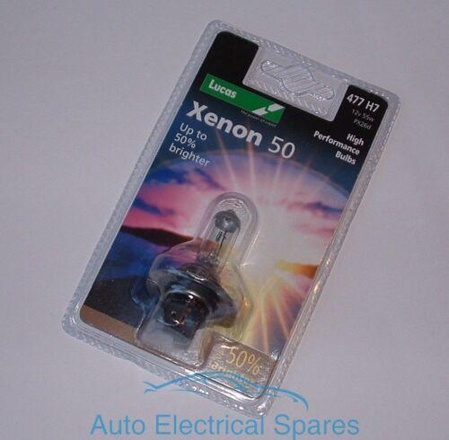 Lucas 477 H7 12v 55w XENON 50 headlight upgrade bulb up to 50/% brighter