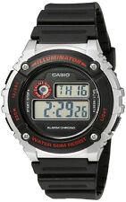 Casio Men's Illuminator Quartz Gray Resin Black Strap Watch W-216H-1CVCF