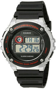 Casio-Men-039-s-Illuminator-Quartz-Gray-Resin-Black-Strap-Watch-W-216H-1CVCF