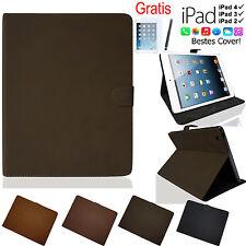 VELOURS Flip Case für iPad 4 / 3 / 2 Schutz Hülle Smart Cover Tasche Etui Folie