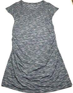 Women-NWT-Liz-Lange-MATERNITY-Dress-Size-M-Comfort-Stretch-Short-Sleeve