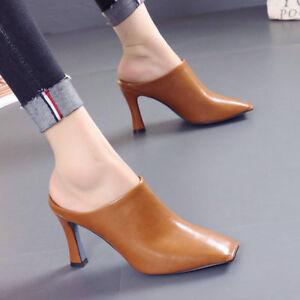 7ee26d32bc3 Ladies Womens HighStilettos Heel Slip On Mules Clogs Summer Sandals ...