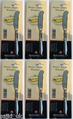 3x Grunwerg Windsor De Acero Inoxidable mantequilla extendiendo Cuchillos 16cm-libre de envío