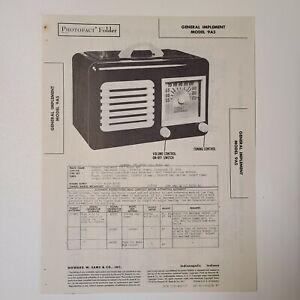 SAMS PHOTOFACT SERVICE MANUAL 37-7 GENERAL IMPLEMENT RADIO MODEL 9A5