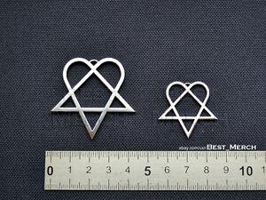 Him necklace stainless steel heartagram pendant merch logo symbol ebay la imagen se est cargando el collar de acero inoxidable de messi colgante aloadofball Choice Image