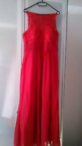 Iefiel Abendkleid Ballkleid Kleid Maxikleid Rot Größe 16 ...