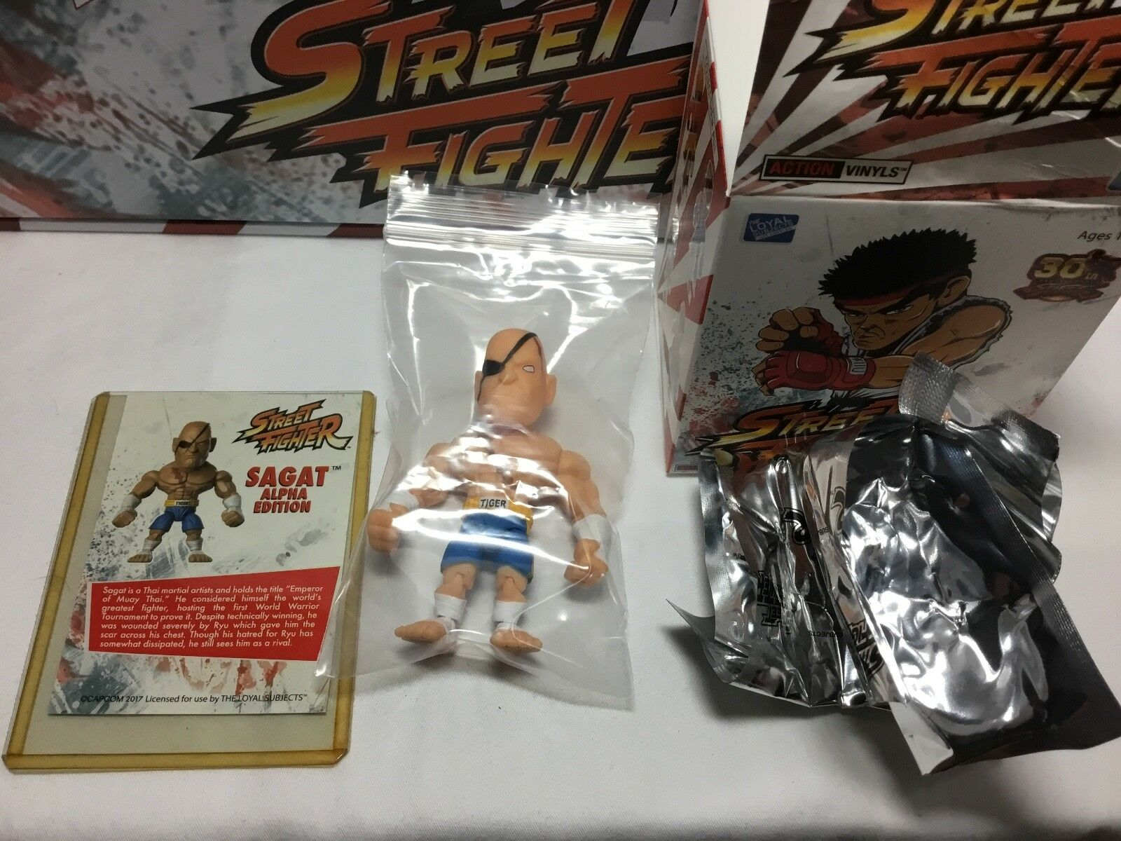 2017 The Loyal Subjects Streetfighter 30th Sagat Chase 1/48 Alpha edition HTF