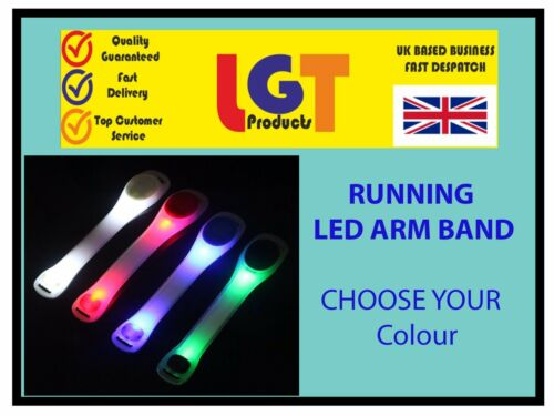 Sicherheit Blinkende LED Aufleuchtend Armband Wandern Laufen Fahrrad Armband