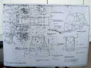 VINTAGE-NEW-1964-CAE-500-SPRINT-CAR-CHASSIS-REPRODUCTION-BLUE-PRINTS
