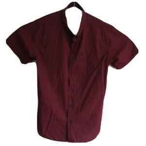 Ripcurl-Men-039-s-Short-Sleeve-Check-Button-Up-Shirt-Size-XXL
