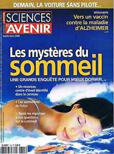 Sciences Et Avenir N°715 Mystère Du Sommeil Alzheimer