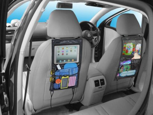 Car Back Seat Organiser Tidy Storage with iPad Tablet Holder