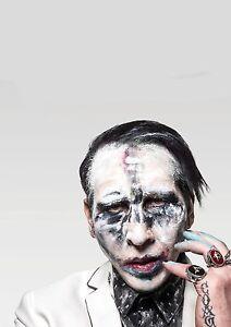 Art Print Poster Canvas  Marilyn Manson